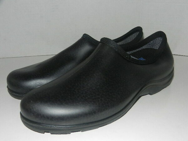 Sloggers Waterproof Slip On Comfort Garden Rain Shoes Black Men#x27;s Size 12 M
