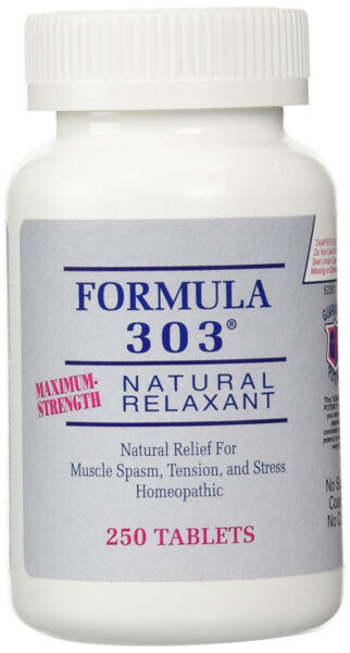 Formula 303 Maximum Strength Natural Muscle Relaxant for Spasms and Cramps $42.99