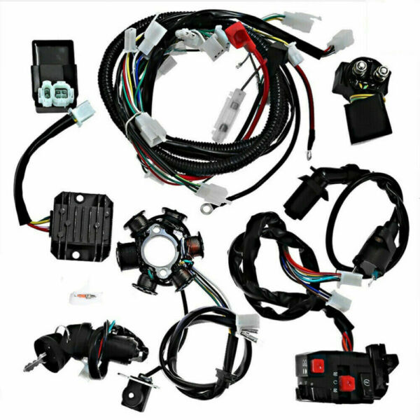 Wiring Harness Loom Kit For GY6 4 Stroke Engine 125cc 150cc Pit Bike Scooter ATV $69.99