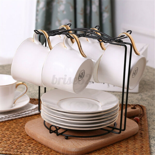 6 Cup Coffee Mug Tree Stand Cup Hanging Rack Holder Kitchen Tidy Storage