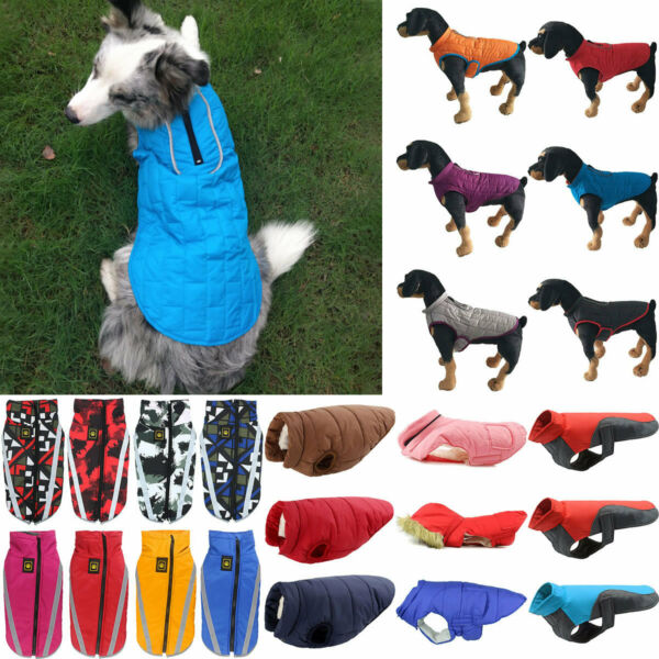 US* Pet Fleece Harness Vest Jacket Sweater Coat Small Medium Dog Large Clothing $12.34