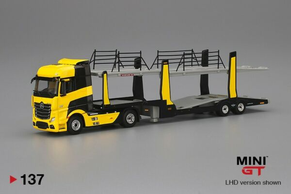 Mini GT 1:64 Mercedes Benz Actros Cars Transporter Die Cast Limited MGT00137 L