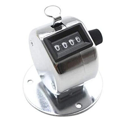 4 Digit Number Dual Clicker Golf Hand Tally Counter metal case with base