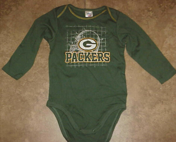 GREEN BAY PACKERS NFL === Green #x27;Packers#x27; One Piece Size 18 mo