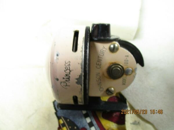 VINTAGE JOHNSON PINK PRINCESS FISHING REEL MODEL 100 A MADE IN USA