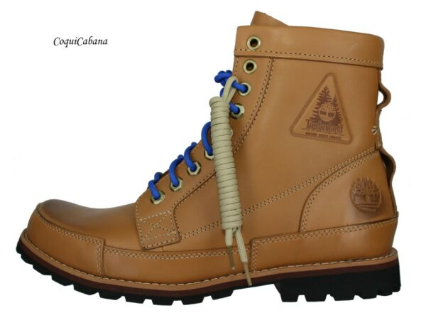 Timberland Men#x27;s quot;Originals 6 Inch Nature Needs Heroesquot; Brown Leather Boots NIB $77.99