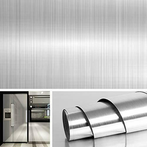 Decorative Stainless Steel Wall Paper for Countertops Kitchen Cabinets Covers