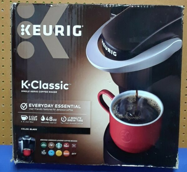 Keurig K Classic K50 Single Serve K Cup Coffee Maker BLACK BUNDLE POD #985