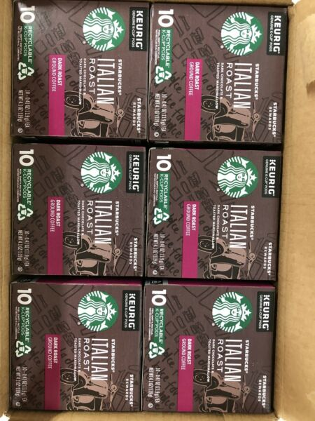 D6. Starbucks Keurig Hot Italian Dark Roast Ground Coffee 60 K Cup Best 8 2021