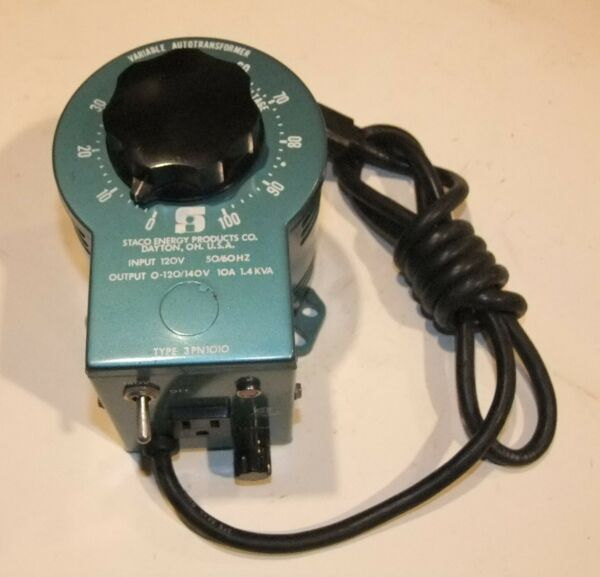 Staco Type 3PN1010 Variable Autotransformer