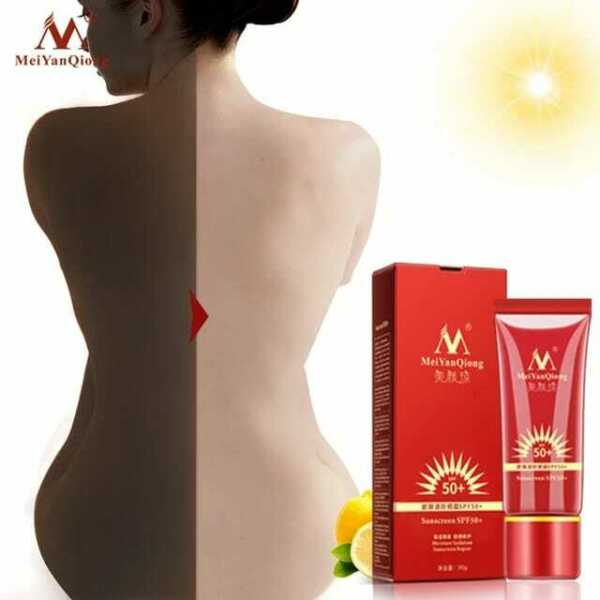Waterproof SPF50 PA Oil Free Whitening Sunscreen Sunblock for Smooth Face .
