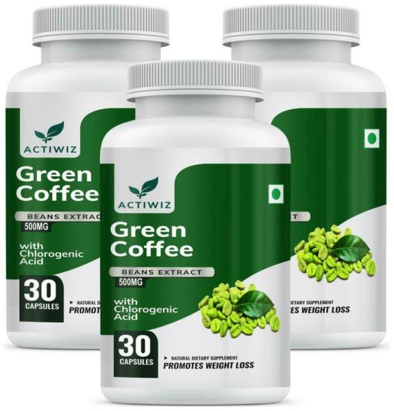 Actiwiz Green Coffee Beans Extract 50% CGA for Weight Loss 30 Capsules Obu