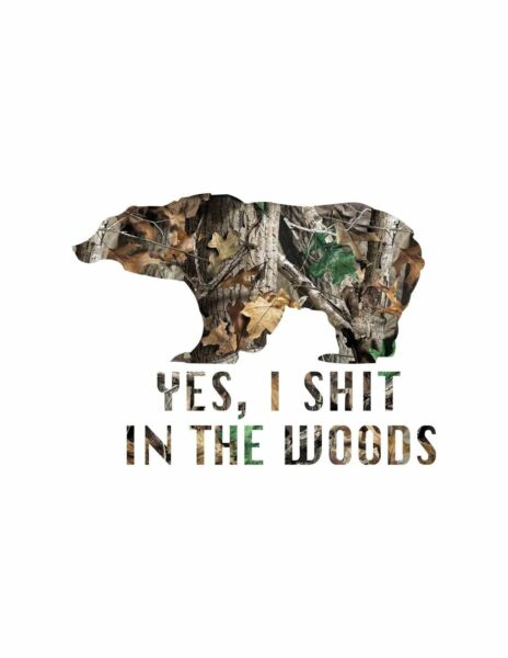Outdoor outside bear fishing camping Camo Decal Sticker