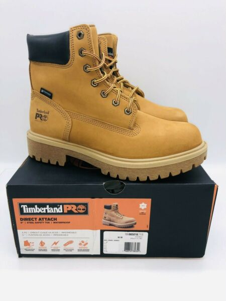 Timberland PRO 6quot; Direct Attach Safety Toe Water resistant Work Boot Wheat $115.00