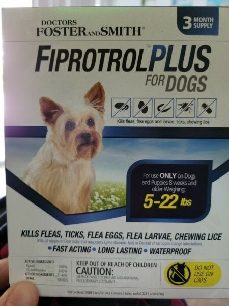Doctors Foster and Smith Fiprotrol Topical Flea amp; Tick Control For Dogs 5 22 lbs $11.99