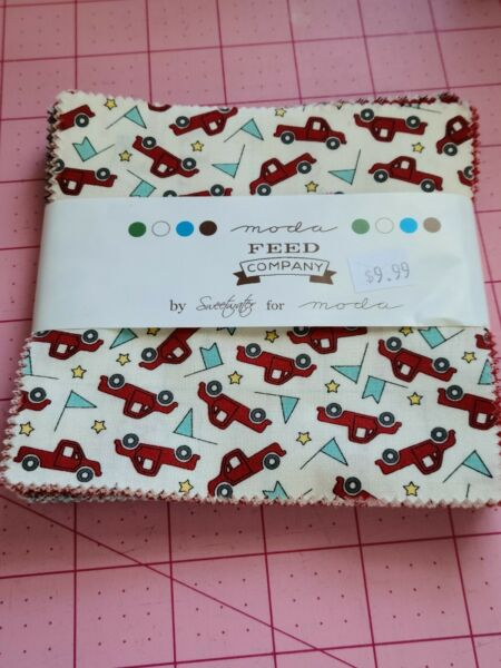 PARTIAL Moda Fabric Charm Pack Sweetwater Feed Company Feed Company Charm Pack