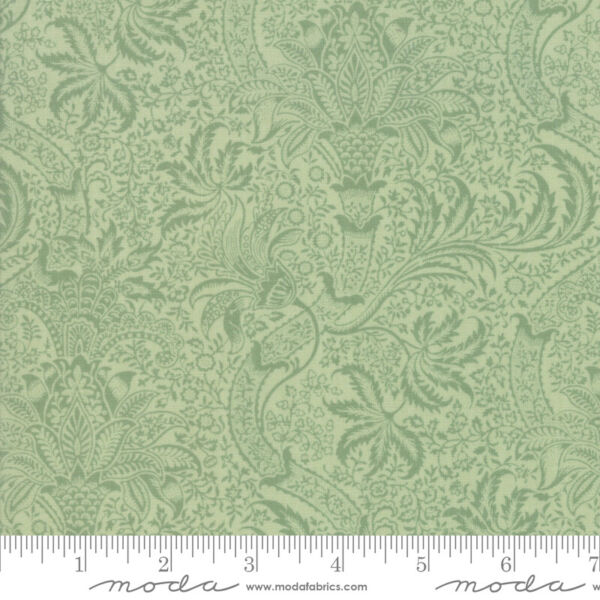 Best of Morris Spring Sage 33498 13 by V amp; A Company for Moda Fabric half yard