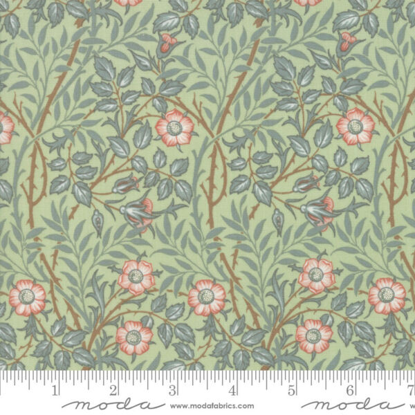 Best of Morris Spring Sage 33494 13 by V amp; A Company for Moda Fabric half yard