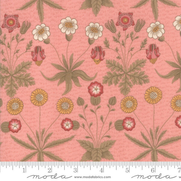 Best of Morris Spring Rose 33493 12 by V amp; A Company for Moda Fabric half yard