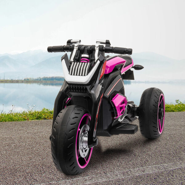 12V Kids Ride On Toy Motorcycle Three wheeled Electric Bike Car with Mp3 Horns $127.99