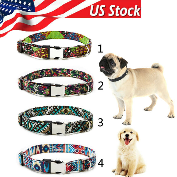 Adjustable Pet Dog Collars Personalized Soft Comfortable With heavy duty buckle $9.99