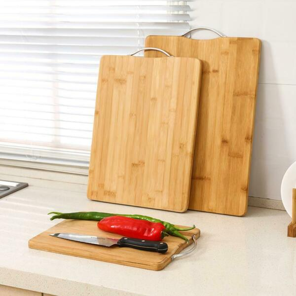 Chopping Board Bamboo Wood Non slip Cutting Board Thick Mothproof J5C7 $14.46