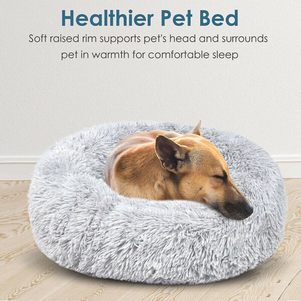 Long Plush Dog Beds For Large Dogs Pet Products Cushion Soft for Anti Anxiety $18.85