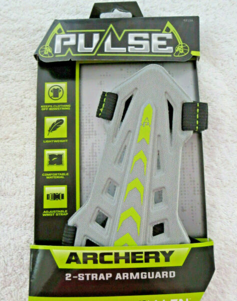 Pulse Archery by Allen 2 Strap Bow Archery Armguard Gray amp; Green NEW fast ship $3.98