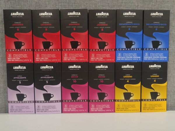 120 Count Lavazza Coffee Capsules Espresso Variety Pack Coffee