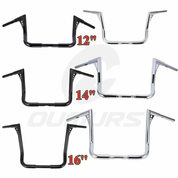 12quot; 14quot; 16quot; Rise Ape Hangers Handlebar For Harley Harley Touring Electra Glide $103.55
