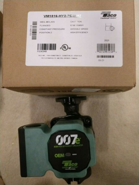 Taco 007e ECM High Efficiency Circulator Pump for Weil McLain CGA Boiler Heater $135.00