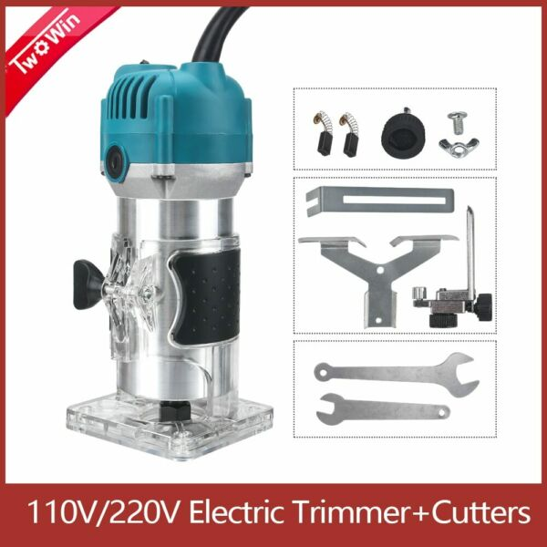 Wood Electric Trimmer Hand Edge Joiners Woodworking Router Tool Engraving $27.99