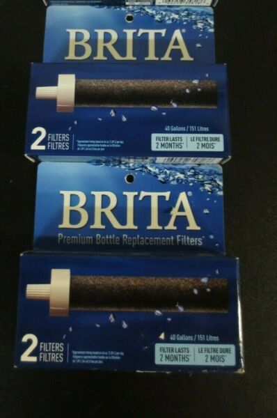 Brita Water Bottle Filter Replacements BPA Free 2 Count