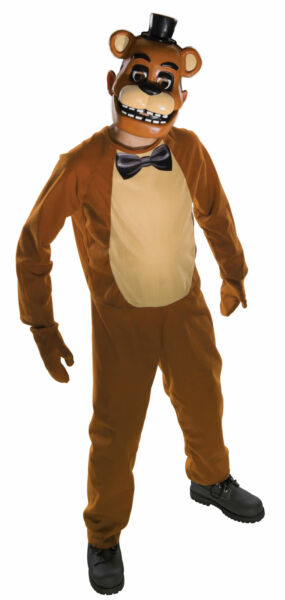 Freddy Child Costume Five Nights At Freddy#x27;s Jumpsuit Mitts and Mask Fazbear