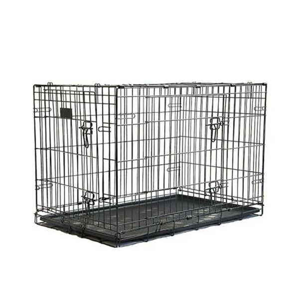 QIANRUIDA Pet Puppy Fence Folding Metal Playpen Dog Cages 36L×23W×25H in $100.66