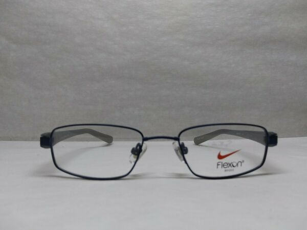 Nike With Flexon Bridge 4673 Blue And Gray Metal Full Rim Eyeglasses Frames...