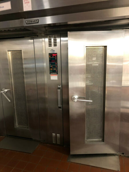 Hobart Natural Gas HSROG Single Rack Grocery Bakery Roll In Convection Oven $3500.00