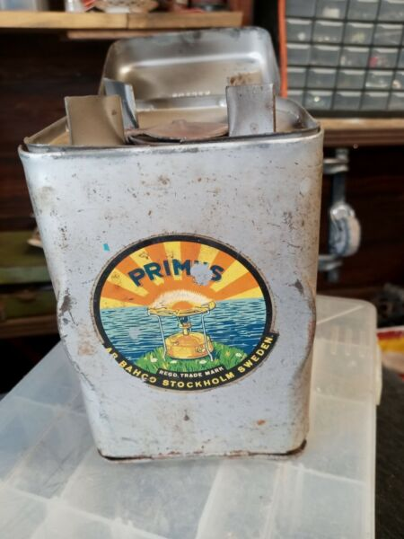 Vintage Primus Sweden No. 71 Camp Gas Stove Backpacking w case