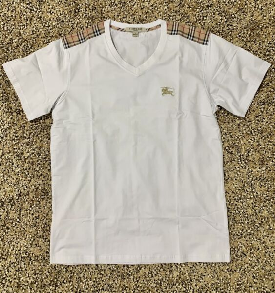 Unisex Burberry Brit V neck Short Sleeve T Shirt Top SML XLXXL $59.99
