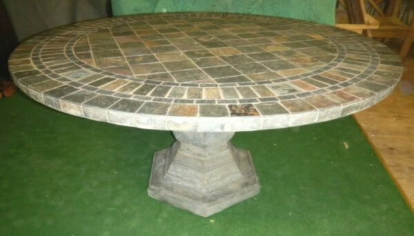 Large Slate top Patio Outdoor Table $195.00