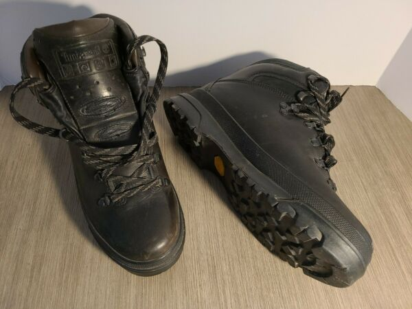 Vintage 90s TIMBERLAND Hiking Boots. Mens sz 10m. Black LEATHER. Vibram Gore Tex $169.99
