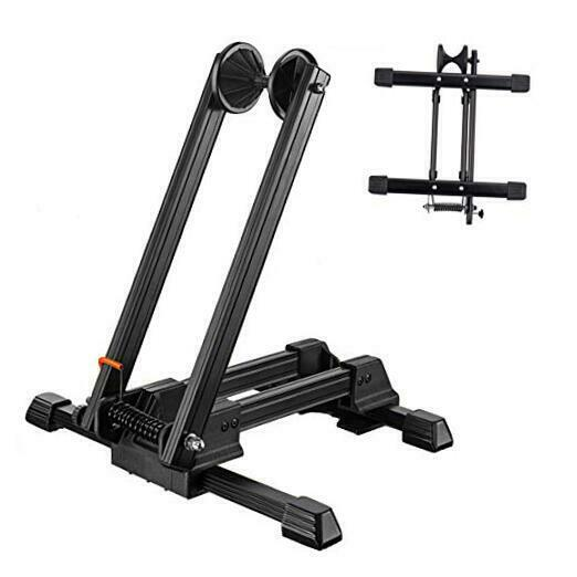 Foldable Floor Bike Stand Portable Bicycle Storage Holder Mountain Bikes $44.03