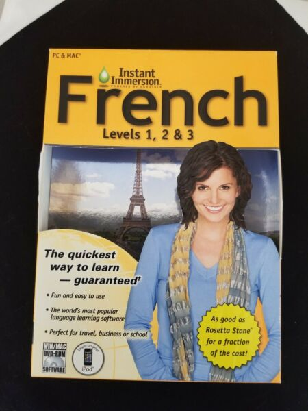 Instant Immersion French language lessons 3 Levels $9.00