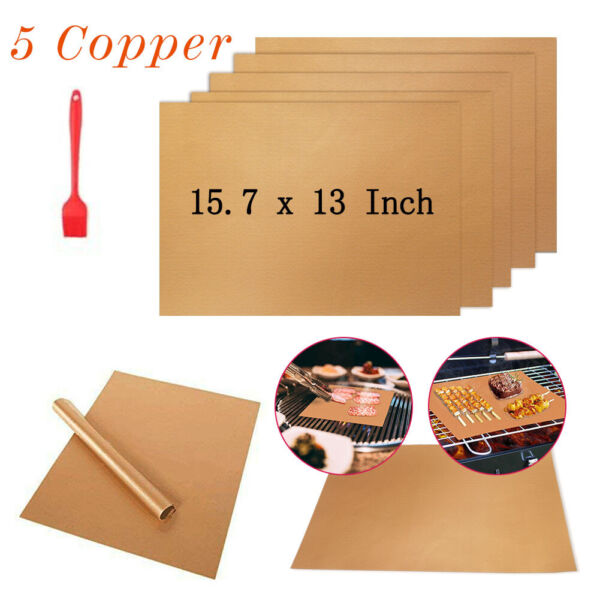 BBQ Grill Mat 5 Copper Non Stick Bake Magic Matt Miracle Reusable
