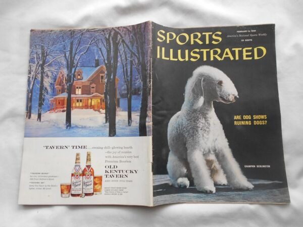 SPORTS ILLUSTRATED MAGAZINE FEBRUARY81958 ARE DOG SHOWS RUINING DOGS ? $9.00