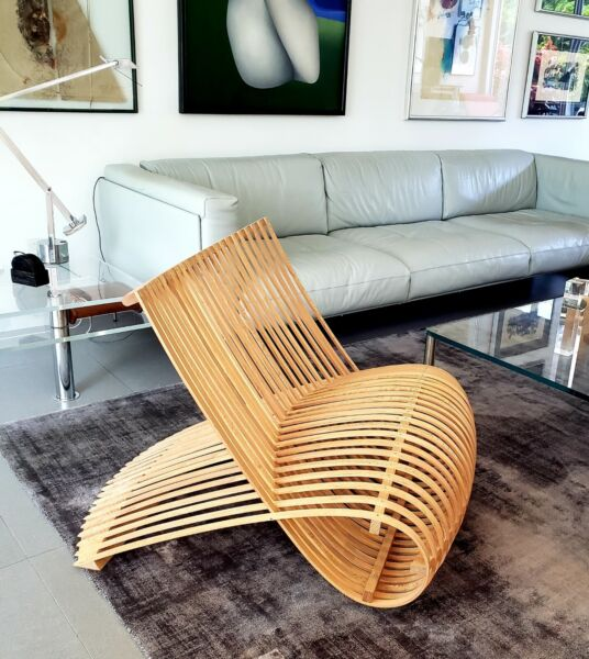 Marc Newson wooden chair for Cappellini Italy