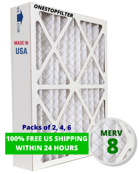 20x25x4 air filter pleated hvac ac furnace merv 8 pack of 2 4 or 6 $83.20