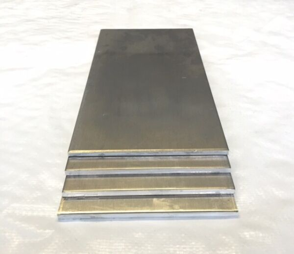 4 Pieces 1 4quot; Aluminum Plate Scrap Drops 6quot; x 12quot; 5052 DIY Samples $24.00