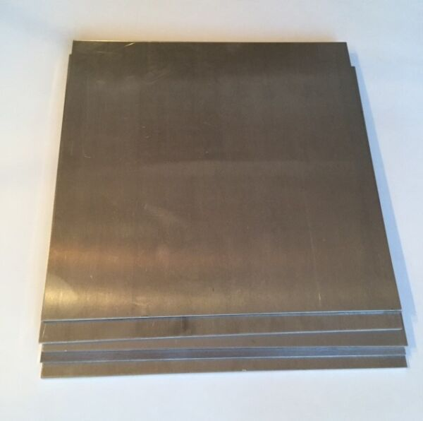 2 Pack 1 4quot; Aluminum Plate Scrap Drops 12quot; x 12quot; 5052 DIY Samples $24.00