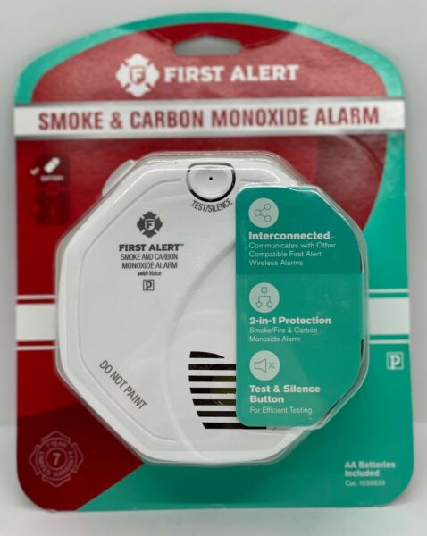 FIRST ALERT 1039839 Wireless Smoke amp; Carbon Monoxide Alarm with Voice $27.99